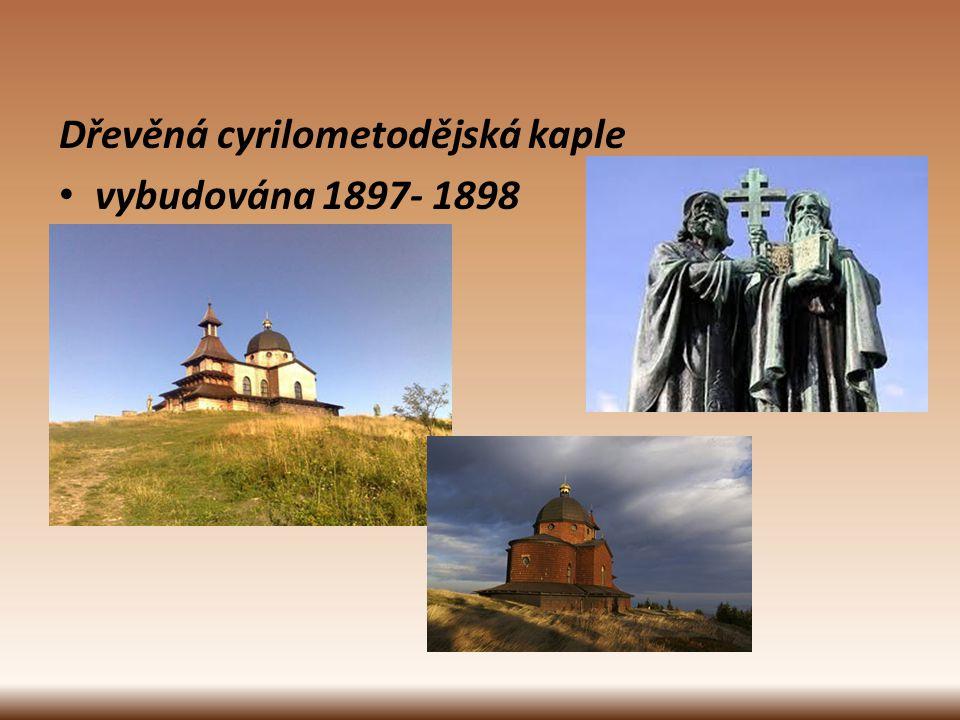 Dřevěná cyrilometodějská kaple