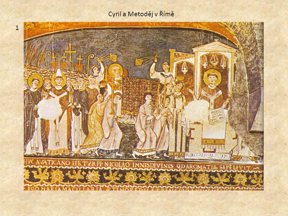 Cyril a Metoděj v Římě 1