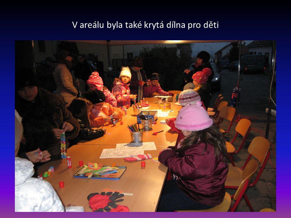 V areálu byla také krytá dílna pro děti