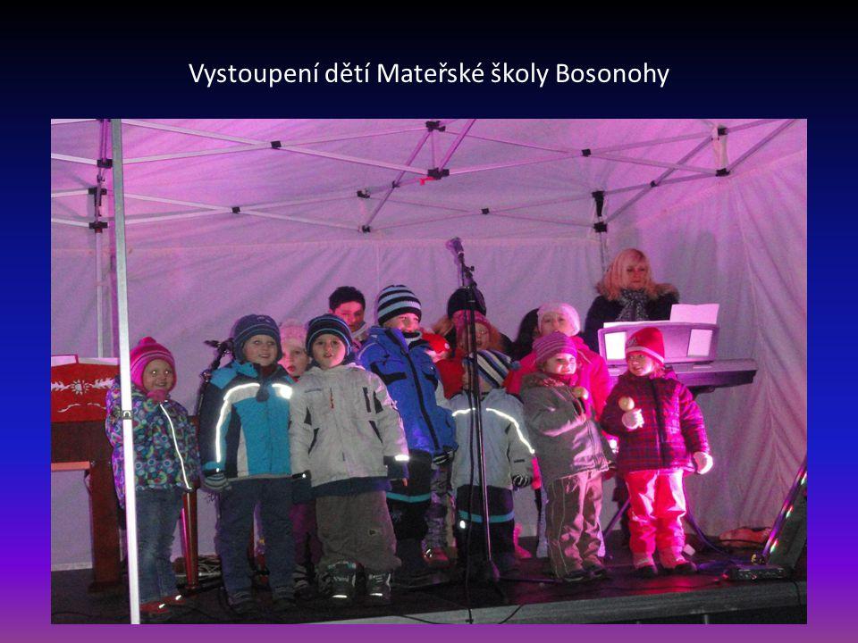 Vystoupení dětí Mateřské školy Bosonohy