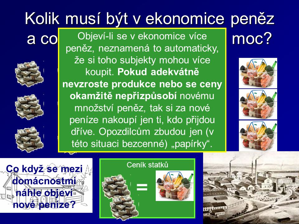 Kolik musí být v ekonomice peněz a co se stane, pokud je jich moc