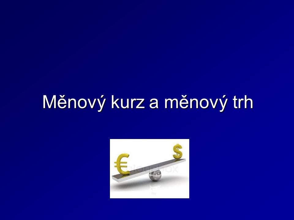 Měnový kurz a měnový trh