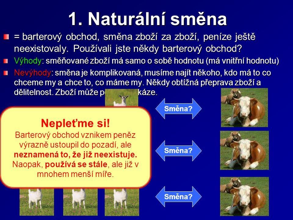 1. Naturální směna Nepleťme si!