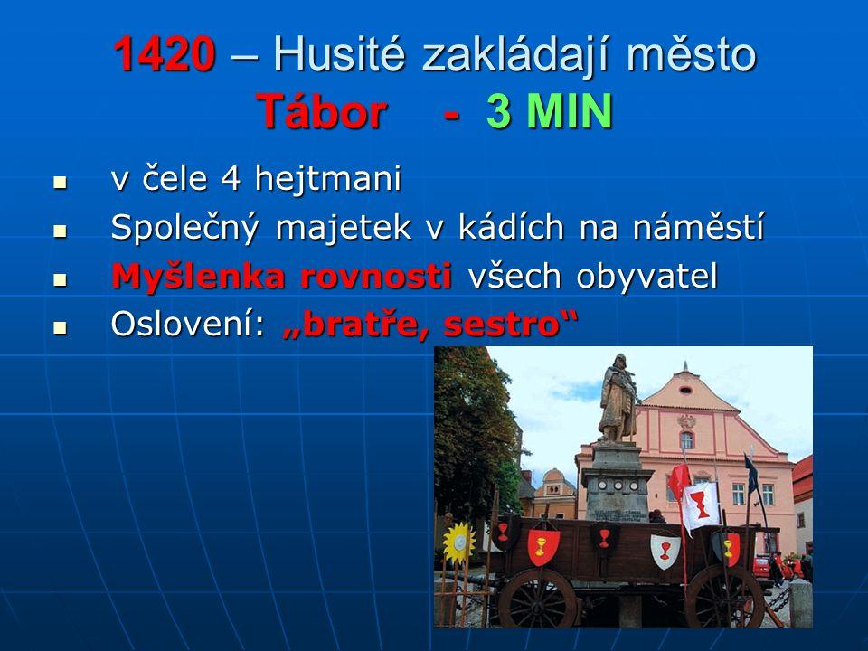 1420 – Husité zakládají město Tábor - 3 MIN