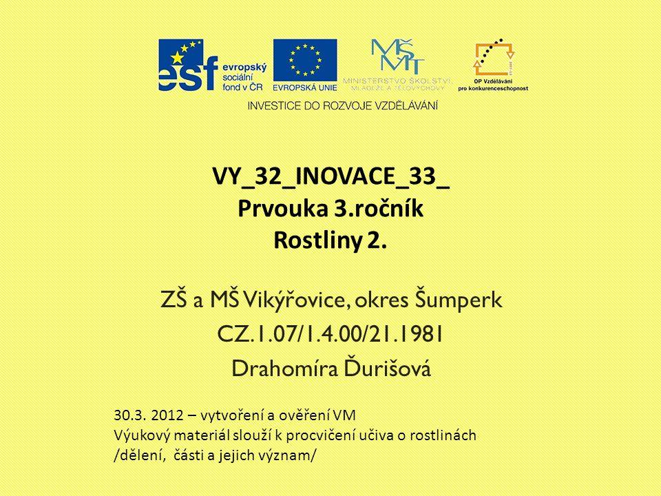 VY_32_INOVACE_33_ Prvouka 3.ročník Rostliny 2.