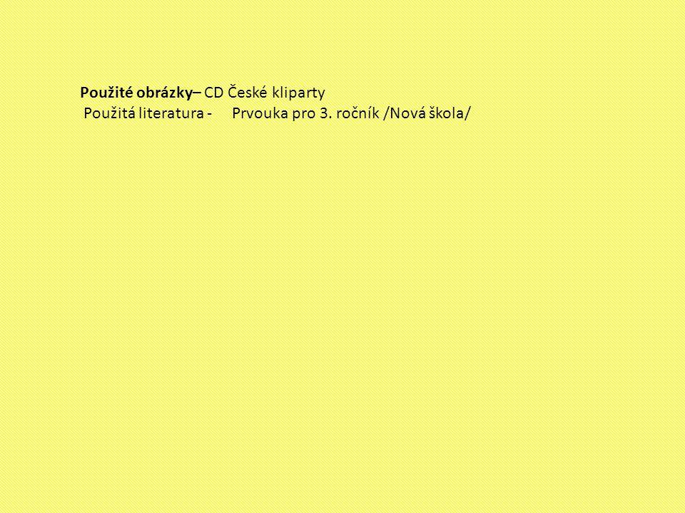 Použité obrázky– CD České kliparty