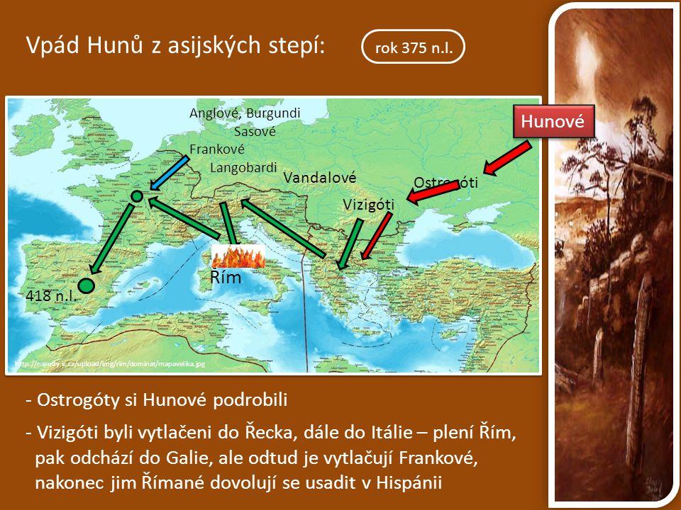 Vpád Hunů z asijských stepí: rok 375 n.l.