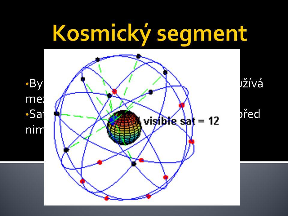 Kosmický segment Byl projektován na 24 družic ale nyní využívá mezní počet 32 družic.