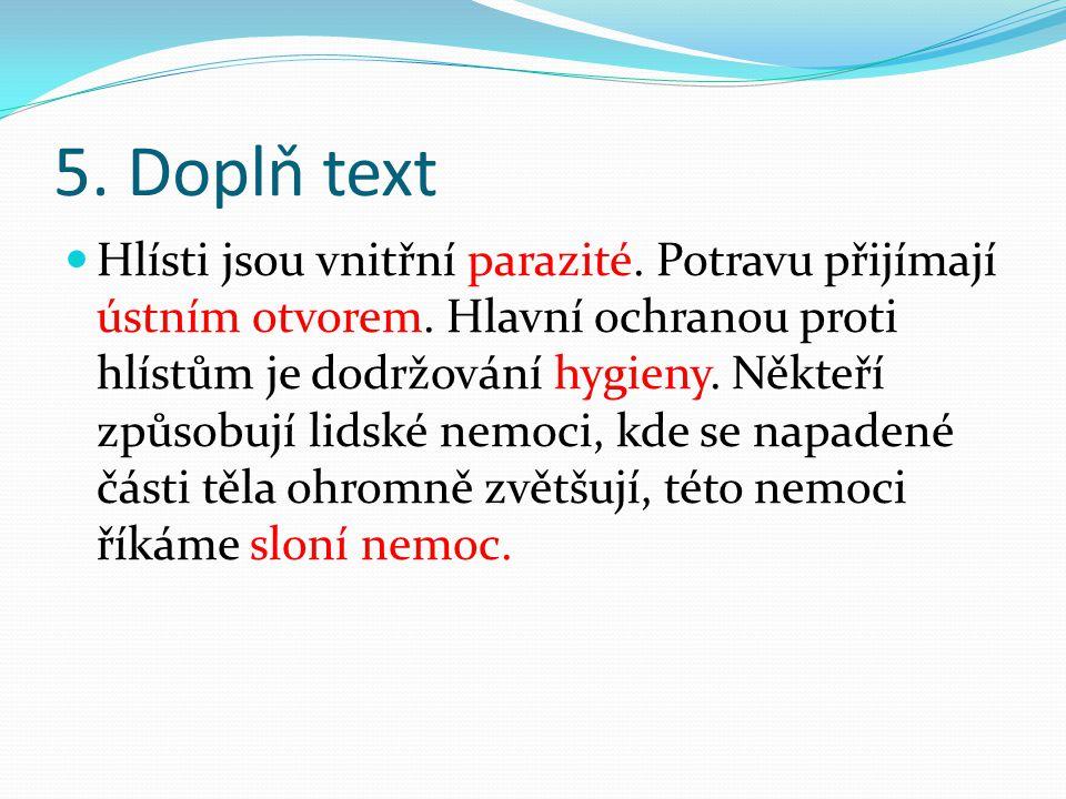 5. Doplň text