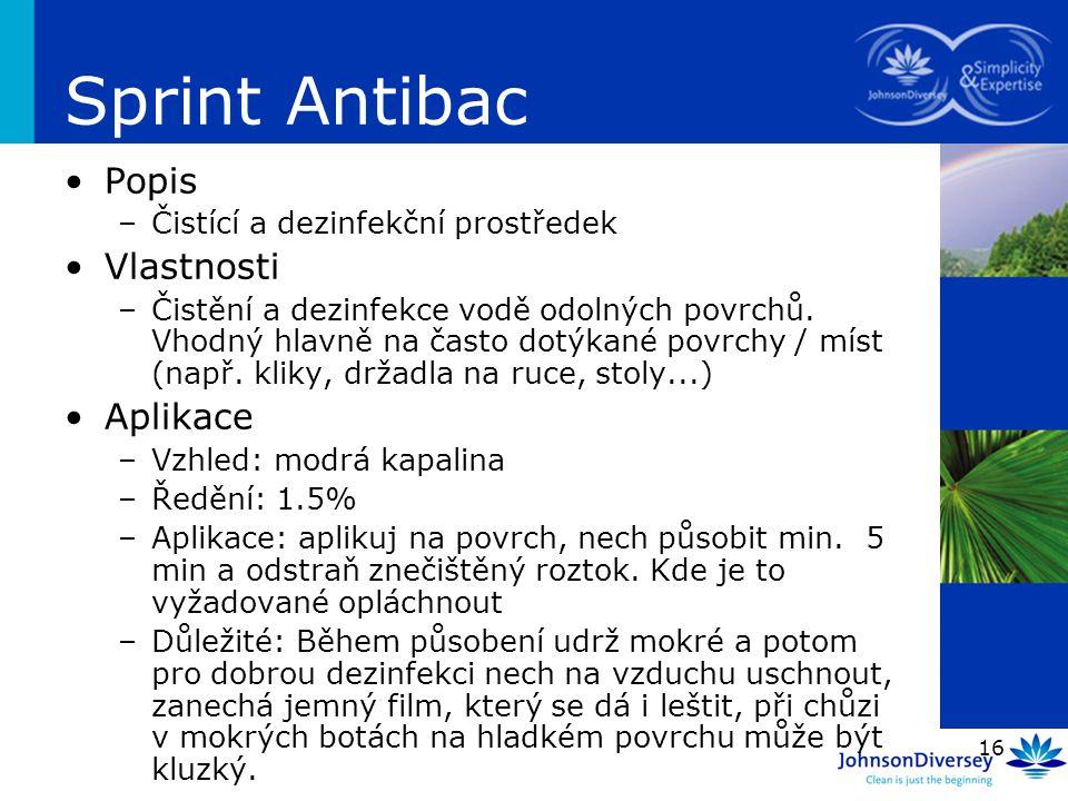 Sprint Antibac Popis Vlastnosti Aplikace