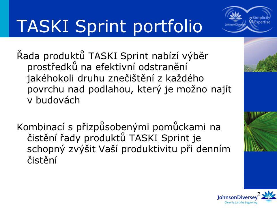 TASKI Sprint portfolio
