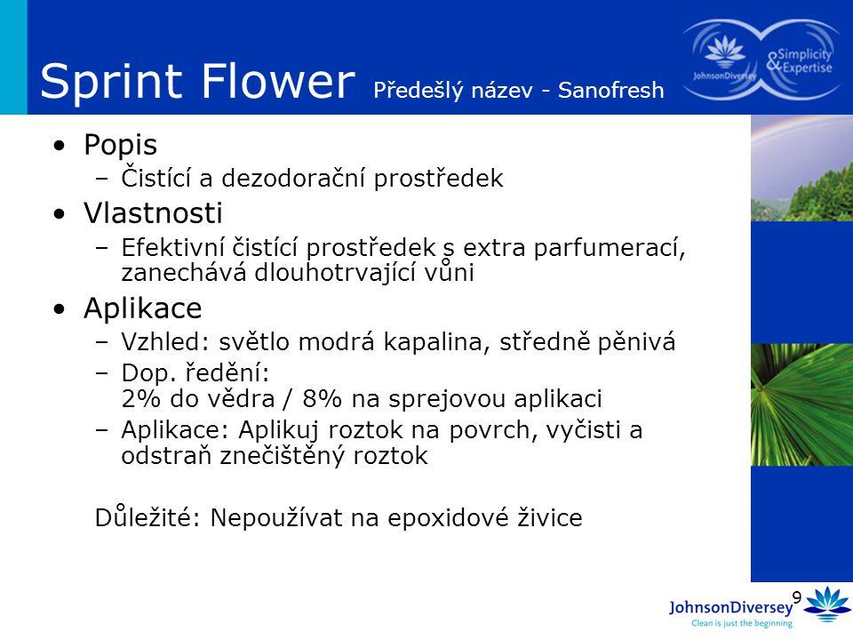 Sprint Flower Předešlý název - Sanofresh