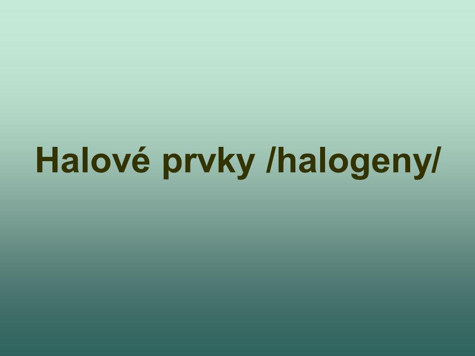 Halové prvky /halogeny/
