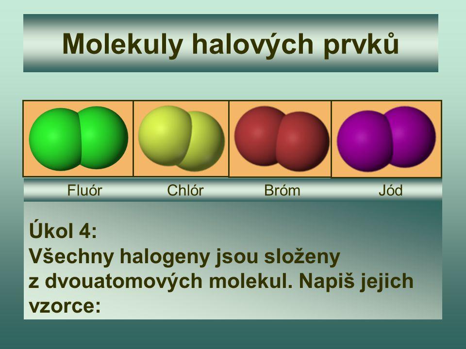 Molekuly halových prvků