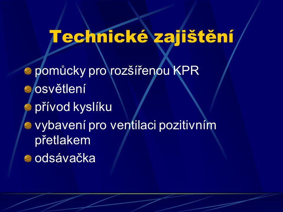 Technické zajištění pomůcky pro rozšířenou KPR osvětlení