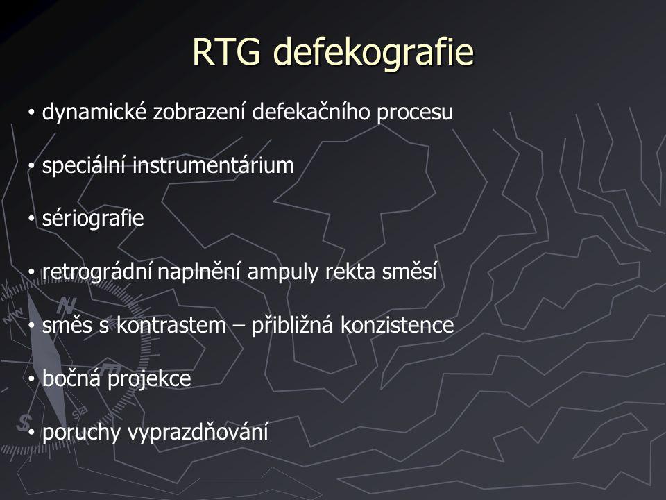 RTG defekografie dynamické zobrazení defekačního procesu
