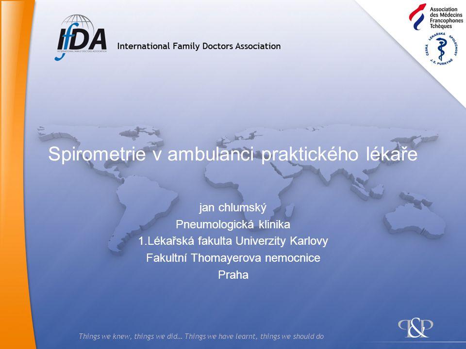 Spirometrie v ambulanci praktického lékaře