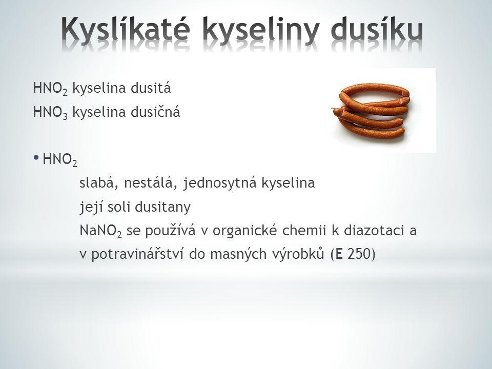 Kyslíkaté kyseliny dusíku
