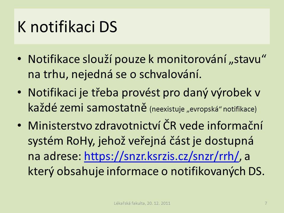 """K notifikaci DS Notifikace slouží pouze k monitorování """"stavu na trhu, nejedná se o schvalování."""