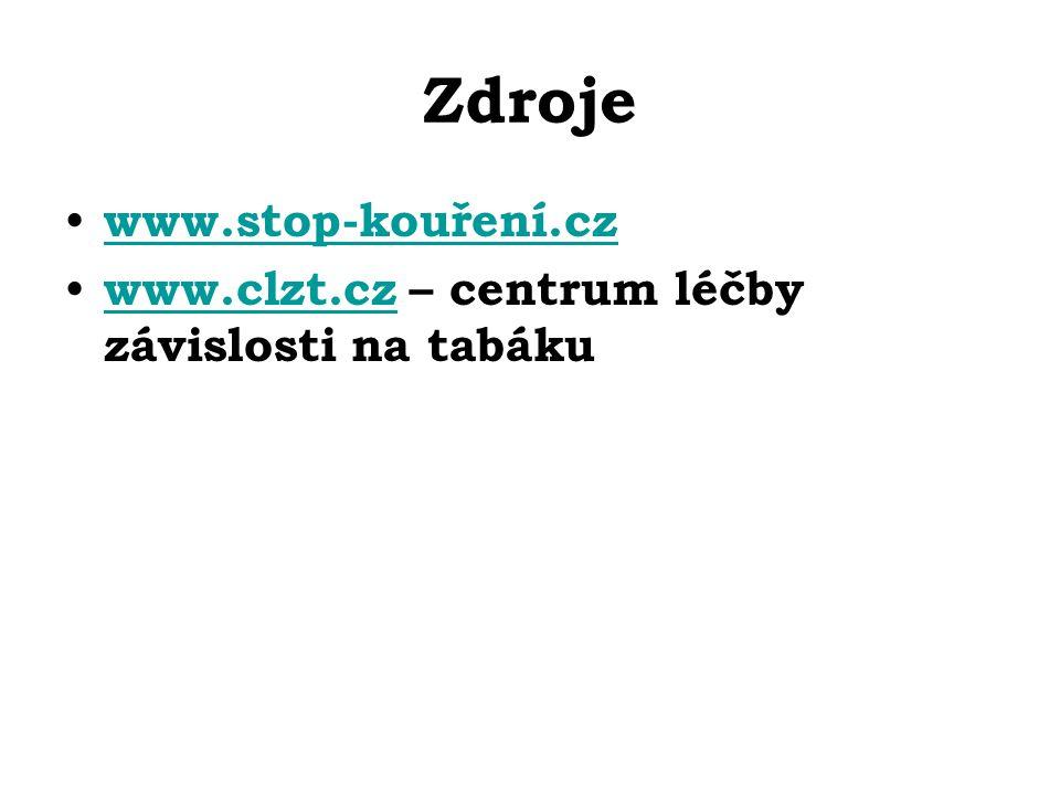 Zdroje www.stop-kouření.cz