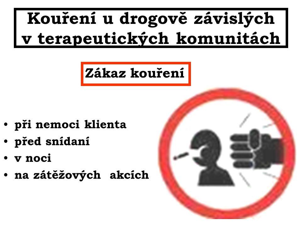 Kouření u drogově závislých v terapeutických komunitách