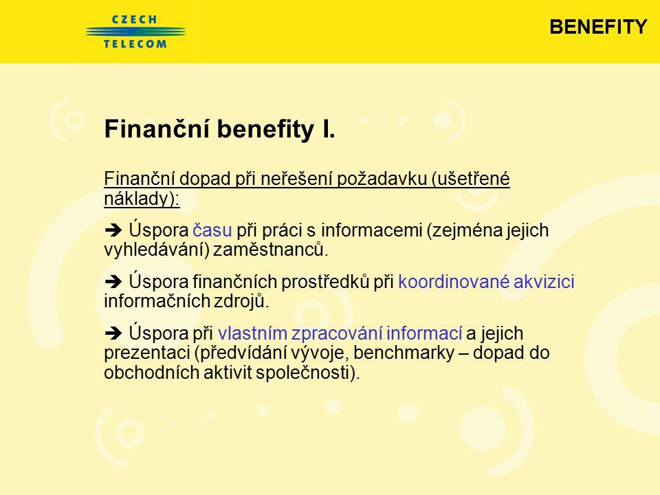 Finanční benefity I. BENEFITY