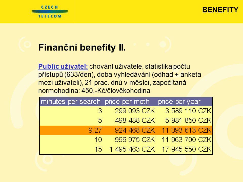 Finanční benefity II. BENEFITY