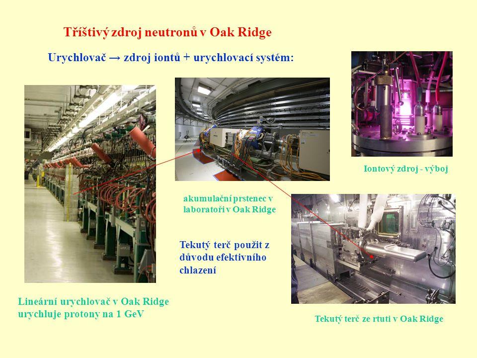 Tříštivý zdroj neutronů v Oak Ridge