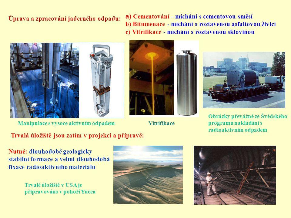 Cementování - míchání s cementovou směsí