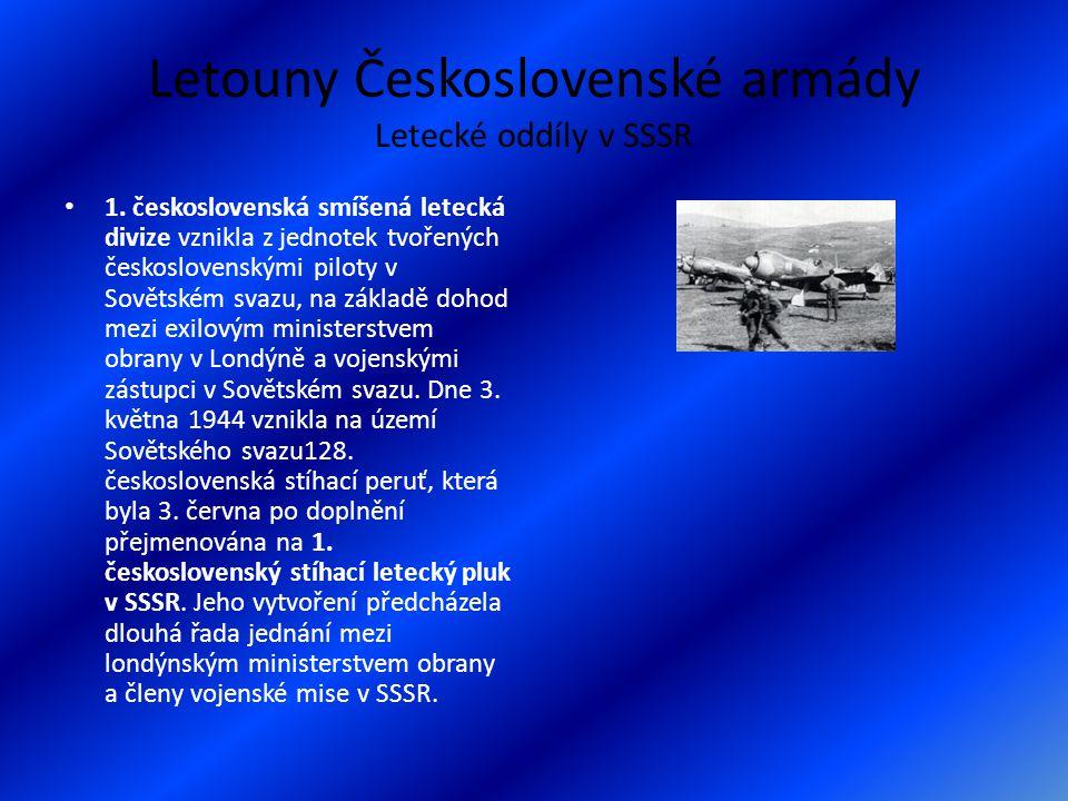 Letouny Československé armády Letecké oddíly v SSSR