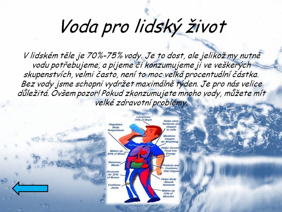 Voda pro lidský život