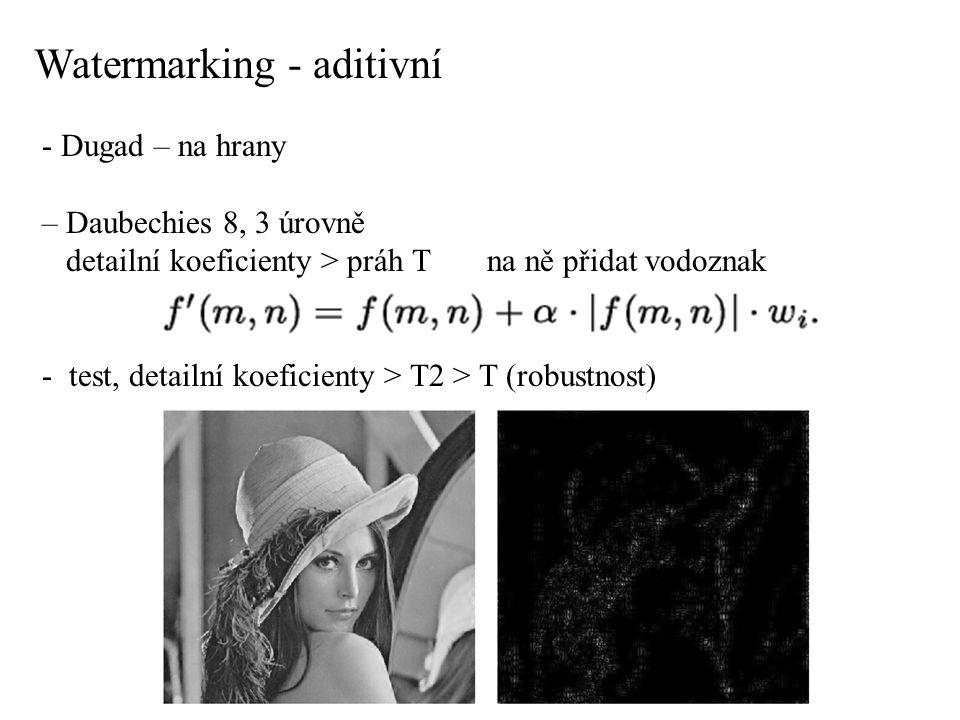 Watermarking - aditivní