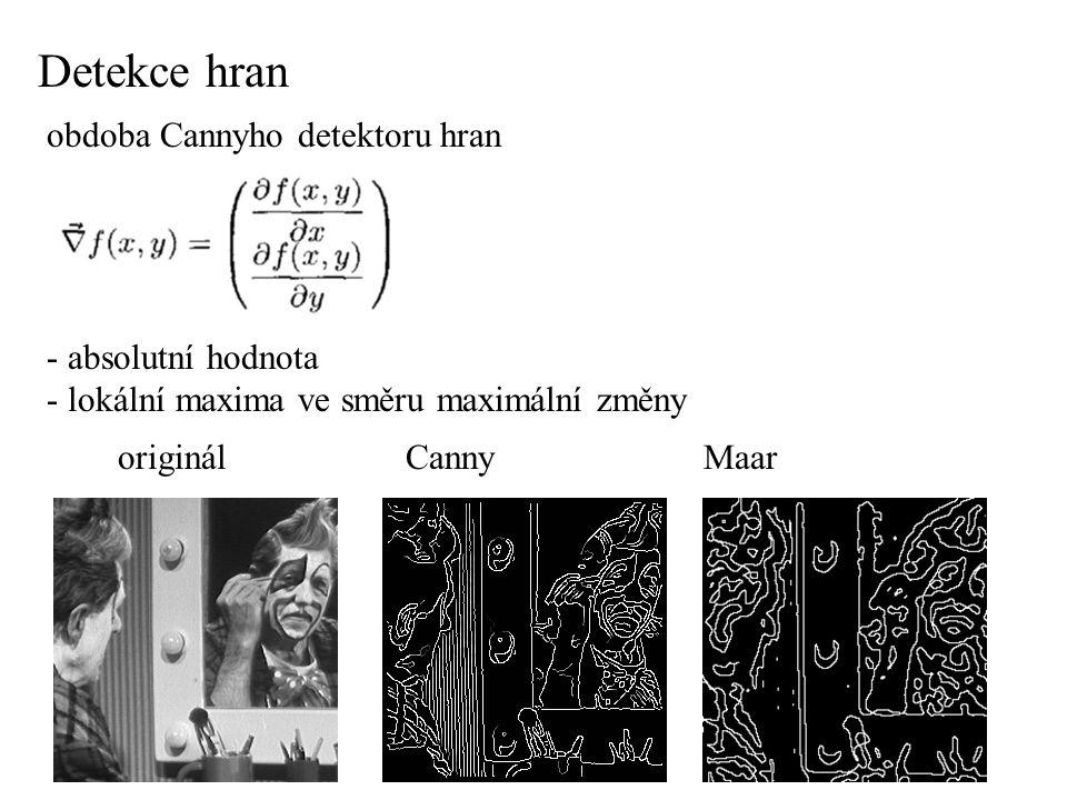 Detekce hran obdoba Cannyho detektoru hran - absolutní hodnota