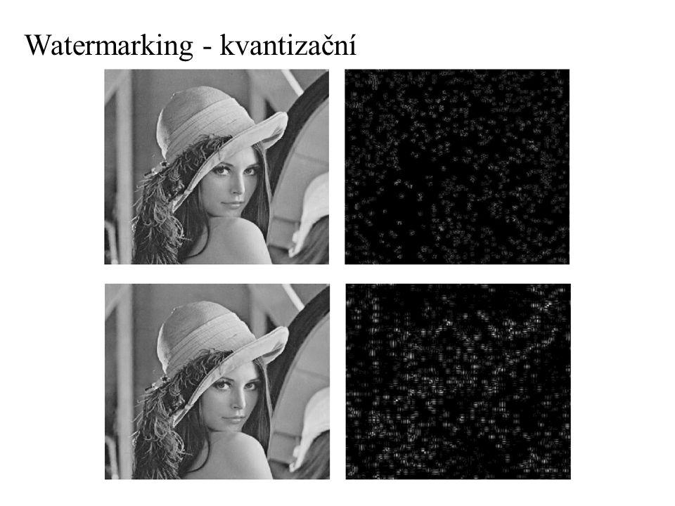 Watermarking - kvantizační
