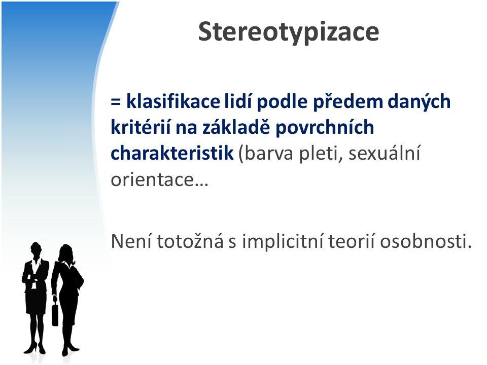 Stereotypizace