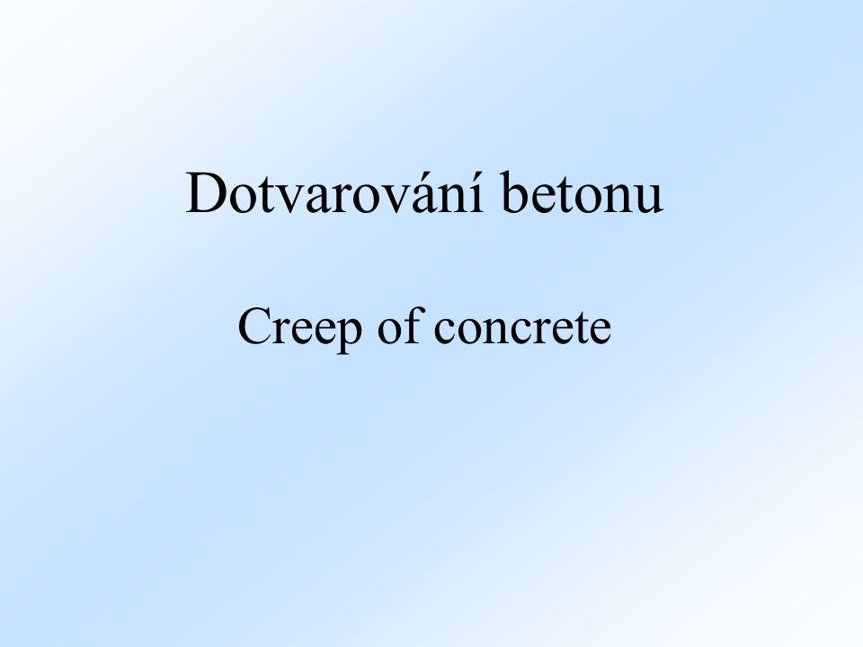 Dotvarování betonu Creep of concrete