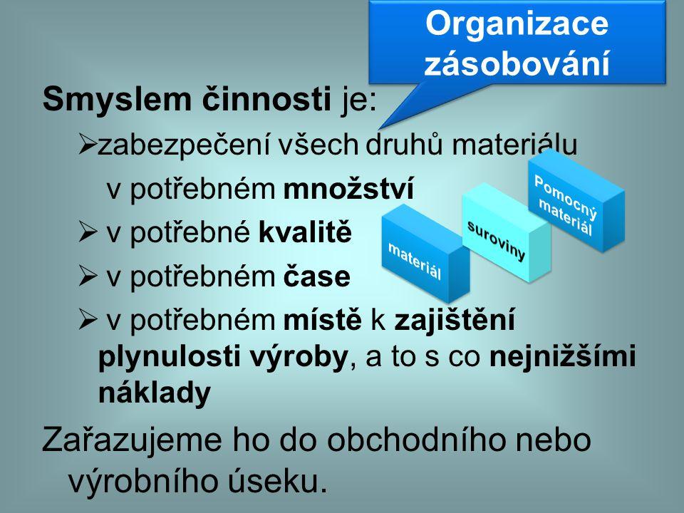 Organizace zásobování