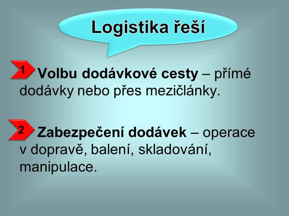 Logistika řeší 1.