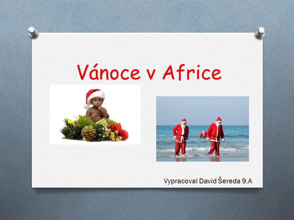 Vánoce v Africe Vypracoval David Šereda 9.A