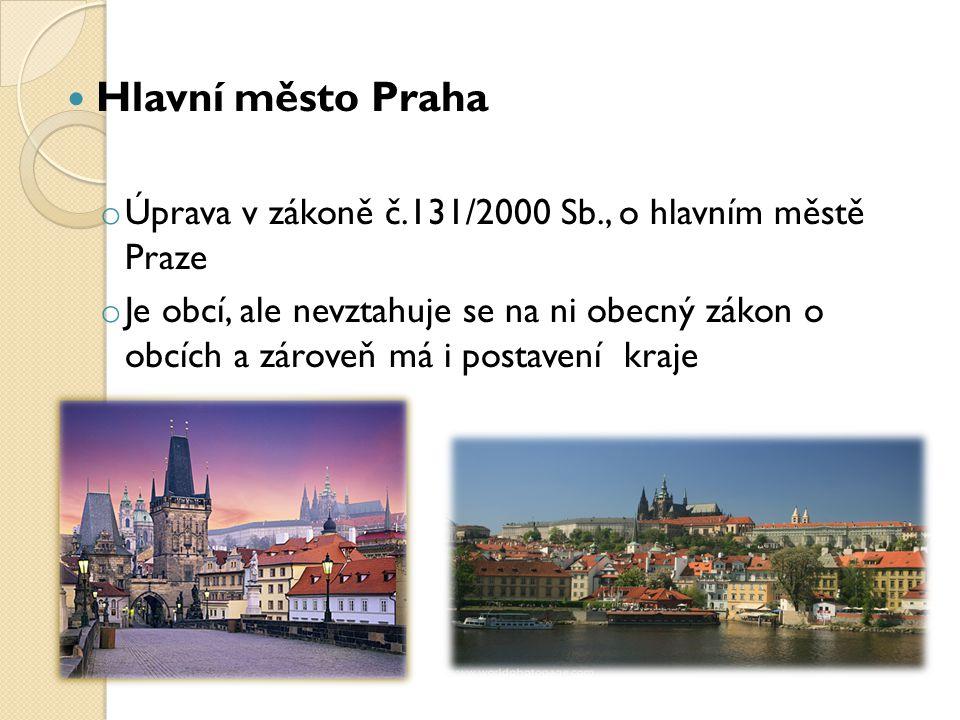 Hlavní město Praha Úprava v zákoně č.131/2000 Sb., o hlavním městě Praze.