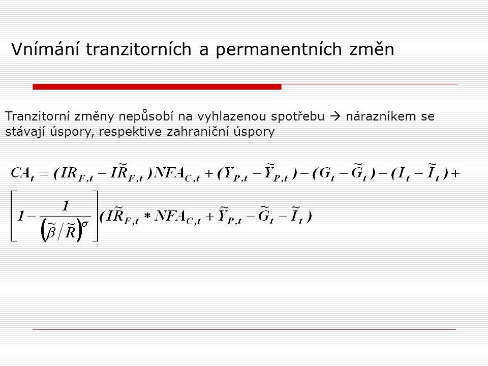 Vnímání tranzitorních a permanentních změn