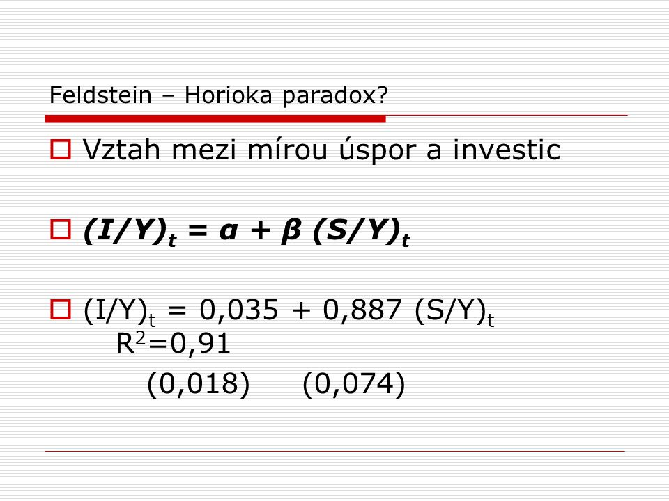 Feldstein – Horioka paradox