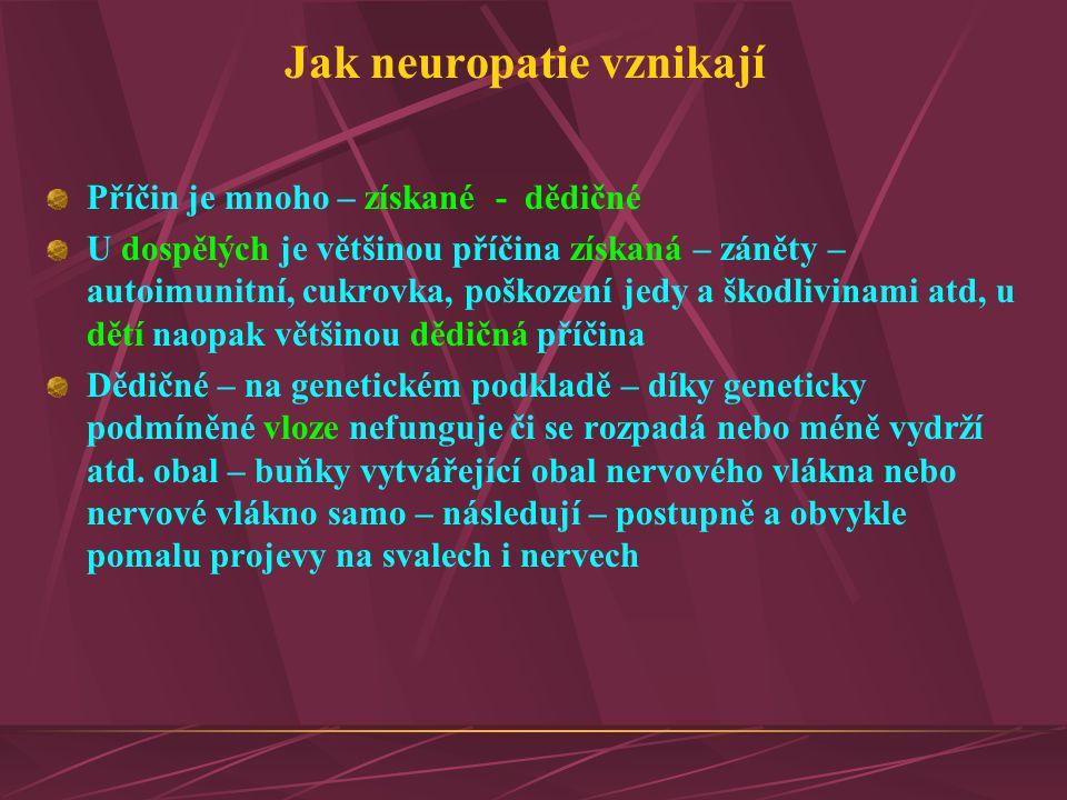 Jak neuropatie vznikají