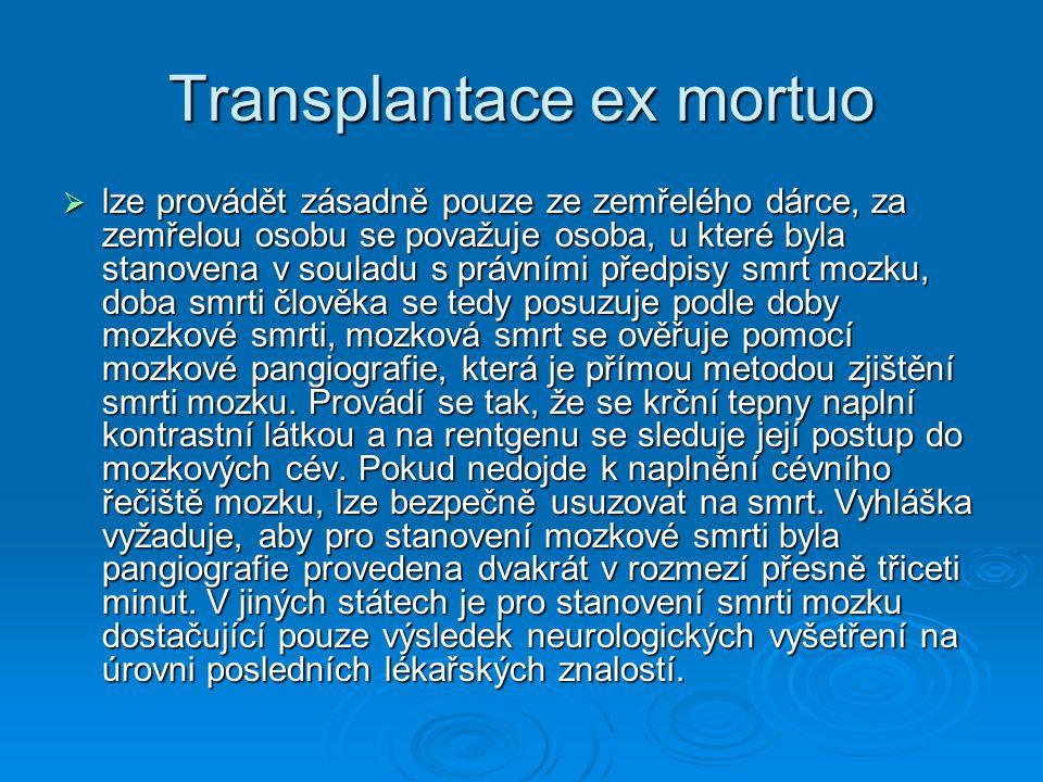 Transplantace ex mortuo