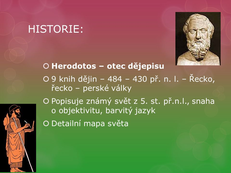 HISTORIE: Herodotos – otec dějepisu