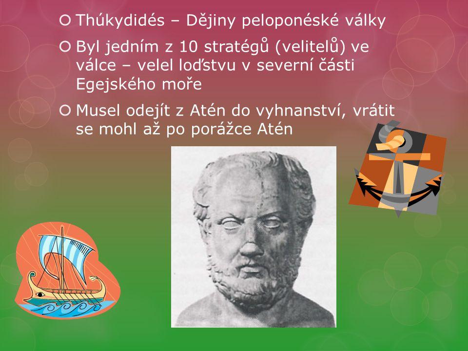 Thúkydidés – Dějiny peloponéské války