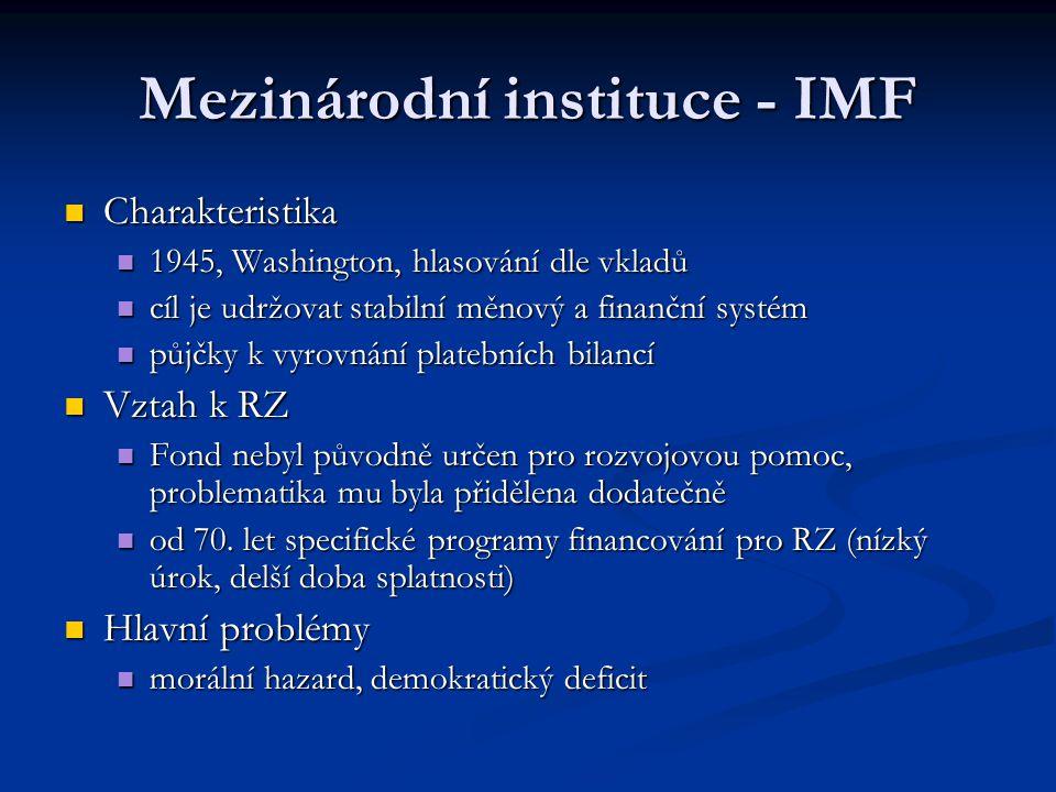 Mezinárodní instituce - IMF