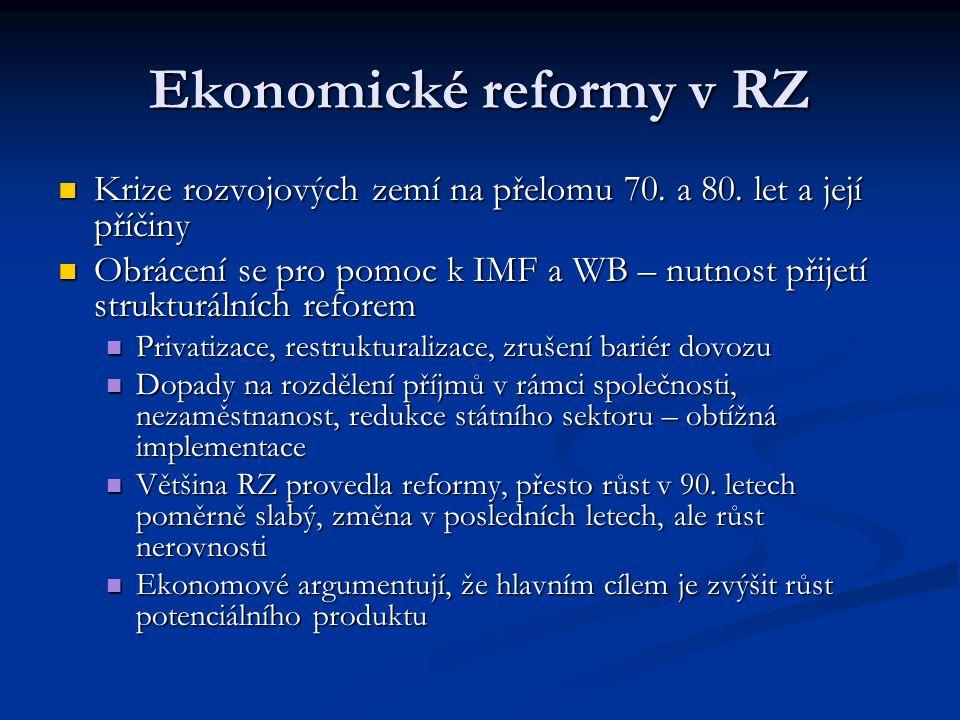 Ekonomické reformy v RZ