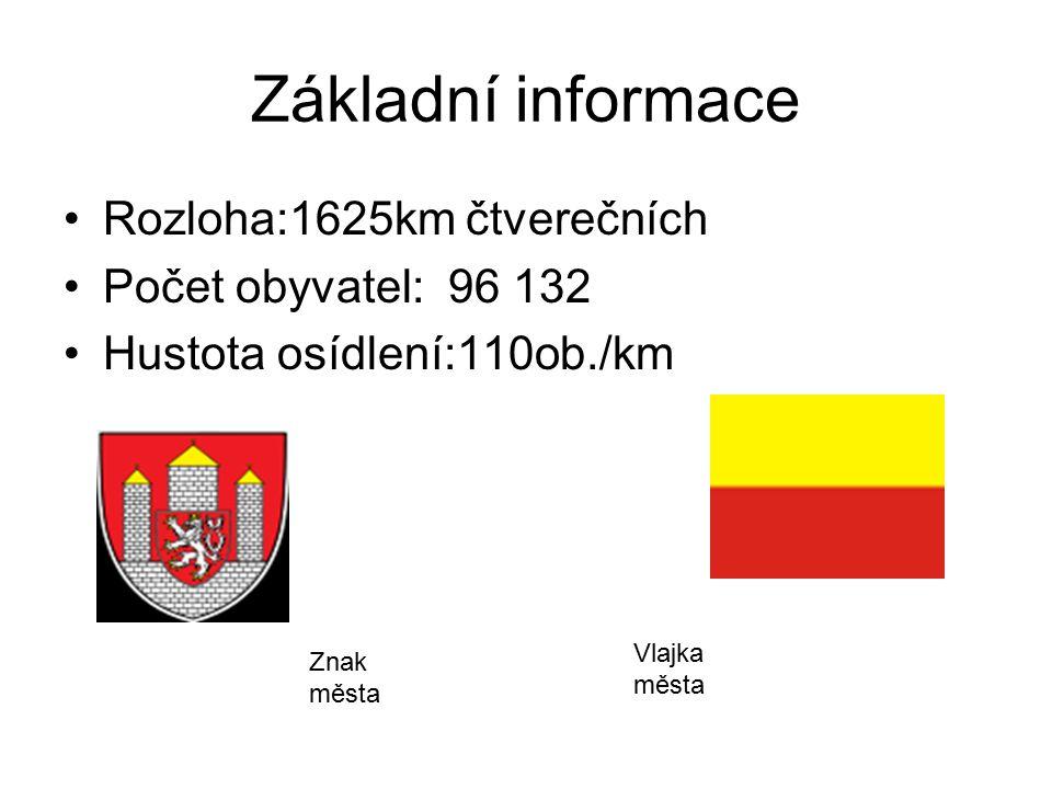 Základní informace Rozloha:1625km čtverečních Počet obyvatel: 96 132