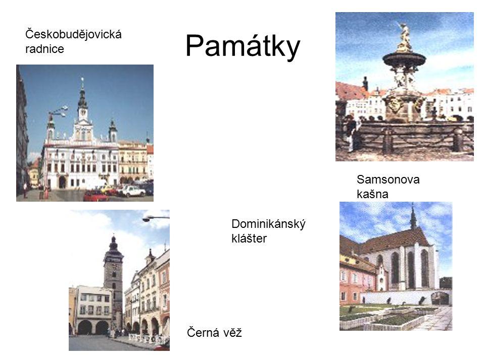 Památky Českobudějovická radnice Samsonova kašna Dominikánský klášter